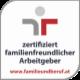 zertifizierter familienfreundlicher Arbeitgeber Siegel